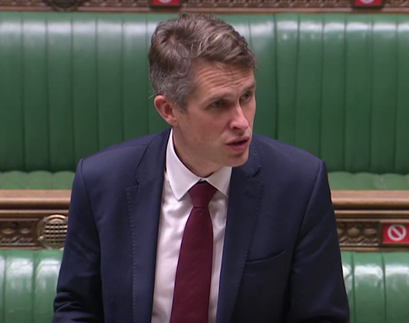 Education secretary Gavin Williamson was back at the despatch box of the House of Commons today (Reuters TV)