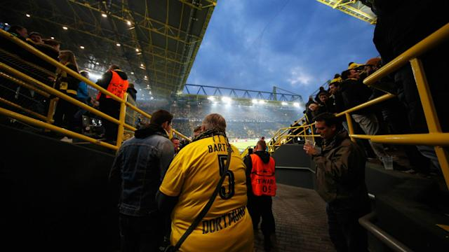 The Champions League match between Borussia Dortmund and Monaco has been called off and will take place on Wednesday.