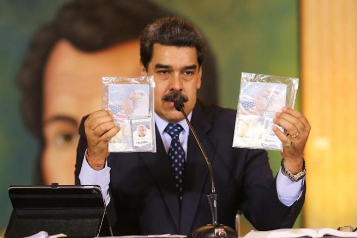 Maduro had vowed two Americans would face trial for allegedly being part of a mercenary force that tried to invade the South American country (AFP Photo/Marcelo Garcia)