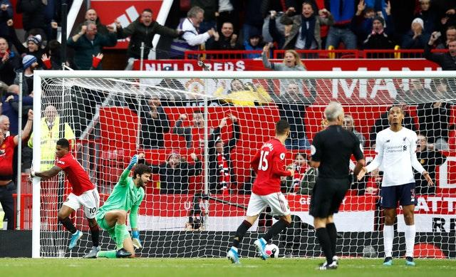 Manchester United are the only side to take points off Liverpool in the Premier League this season following a 1-1 draw at Old Trafford