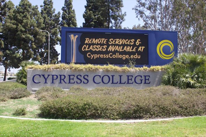 An adjunct professor is taking a leave of absence from Cypress College in Orange County, California, after a video was posted to YouTube of her questioning a student's presentation where the student said police officers were heroes.