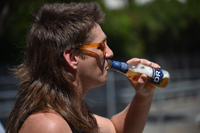 The mullet has remained a staple hairstyle in Kurri Kurri, some 150 kilometres north of Sydney (AFP Photo/PETER PARKS)