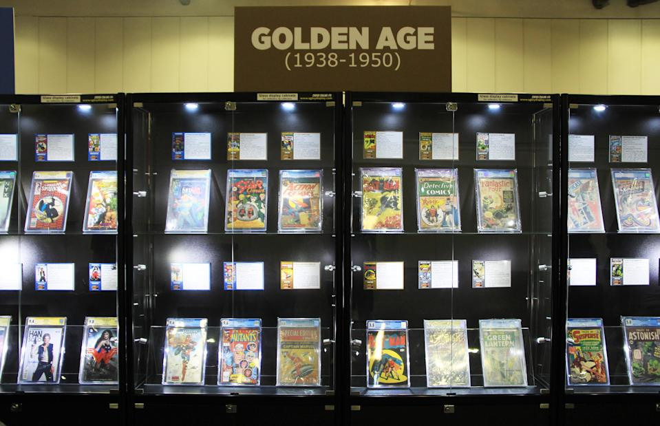 <p>A showcase of comic books from the past at the Singapore Toy, Game and Comic Convention (STGCC) 2018 (PHOTO: Abdul Rahman Azhari/Yahoo Lifestyle Singapore) </p>