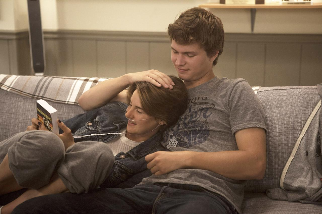 """Shailene Woodley and Ansel Elgort star in this adaption of John Green's 2012 novel as Hazel and Gus, two teenagers who meet in a cancer support group and fall in love. I thought the 2014 movie was emotional, but then I read the source material. And I shed tears I didn't even know I had. <em>Buy the book on Amazon</em> <a href=""""https://www.amazon.com/Fault-Our-Stars-John-Green/dp/014242417X"""" rel=""""nofollow""""><em>here</em></a><em>.</em>"""