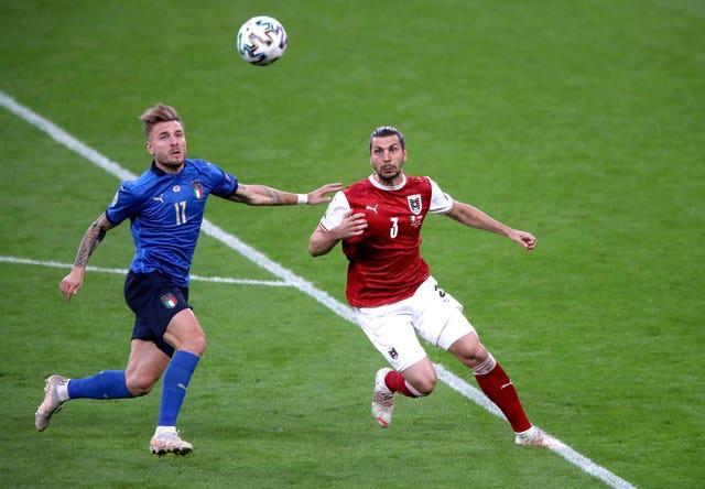 Ciro Immobile, left, has scored two goals at Euro 2020