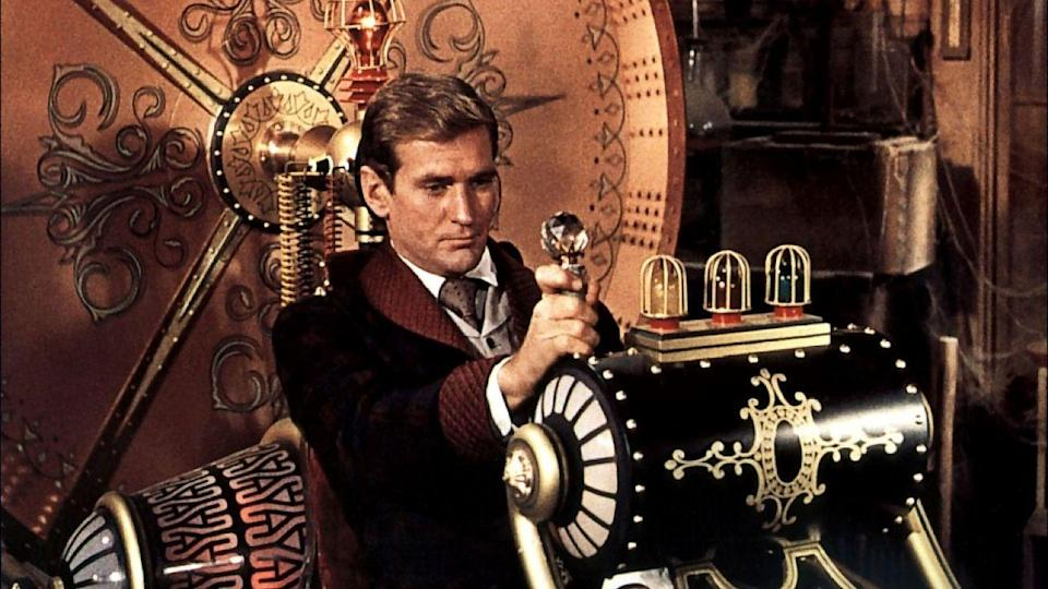 """<p>When it comes to time travel fiction, nothing gets quite as iconic as <em><a href=""""https://www.amazon.com/Time-Machine-Rod-Taylor/dp/B000LJAVUO/?tag=syn-yahoo-20&ascsubtag=%5Bartid%7C2089.g.35650609%5Bsrc%7Cyahoo-us"""" rel=""""nofollow noopener"""" target=""""_blank"""" data-ylk=""""slk:The Time Machine"""" class=""""link rapid-noclick-resp"""">The Time Machine</a></em>. Based on the novel by H.G. Wells, which coined the term """"time machine,"""" this 1960 film adaptation is a classic take on a classic story. H. George Wells travels through time and eventually to the year A.D. 802,701 where he meets the Eloi, Morlocks, and a world completely unlike his own.</p><p>The story itself might be old, but it never gets old.</p>"""