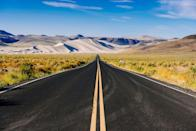 """<p><strong>The Drive: </strong><a href=""""https://travelnevada.com/categories/unique-nevada/highway-50https://www.tripadvisor.com/Attraction_Review-g28949-d126338-Reviews-U_S_Route_50-Nevada.html"""" rel=""""nofollow noopener"""" target=""""_blank"""" data-ylk=""""slk:Highway 50"""" class=""""link rapid-noclick-resp"""">Highway 50</a></p><p><strong>The Scene:</strong> Experience the Wild West by starting in historic <a href=""""https://www.tripadvisor.com/Tourism-g45926-Carson_City_Nevada-Vacations.html"""" rel=""""nofollow noopener"""" target=""""_blank"""" data-ylk=""""slk:Carson City"""" class=""""link rapid-noclick-resp"""">Carson City</a> and following Highway 50 through the ruins of Pony Express stations, plus nearby abandoned mines, saloons, and opera houses. Keep an eye out for wild horses, elk, antelope, and deer, too. </p><p><strong>The Pit-Stop:</strong> Camp out at <a href=""""https://www.tripadvisor.com/Attraction_Review-g28949-d124092-Reviews-Sand_Mountain-Nevada.html"""" rel=""""nofollow noopener"""" target=""""_blank"""" data-ylk=""""slk:Sand Mountain"""" class=""""link rapid-noclick-resp"""">Sand Mountain</a>, a large sand dune located in the middle of nowhere. </p>"""
