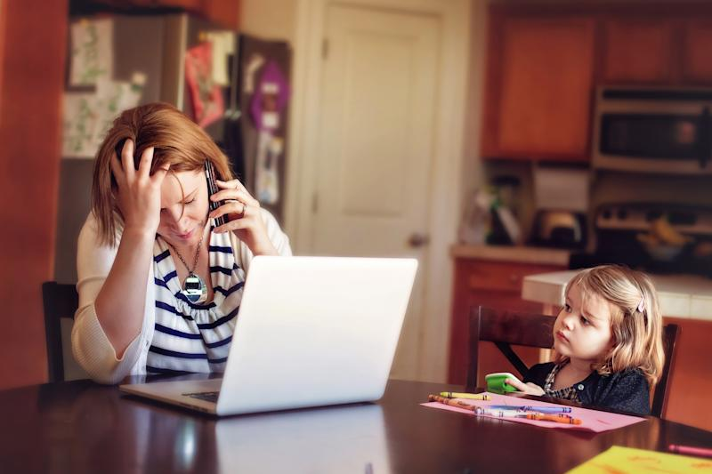 A new study has found children can pick up on parent stress even if they try to suppress it. (Getty Images)