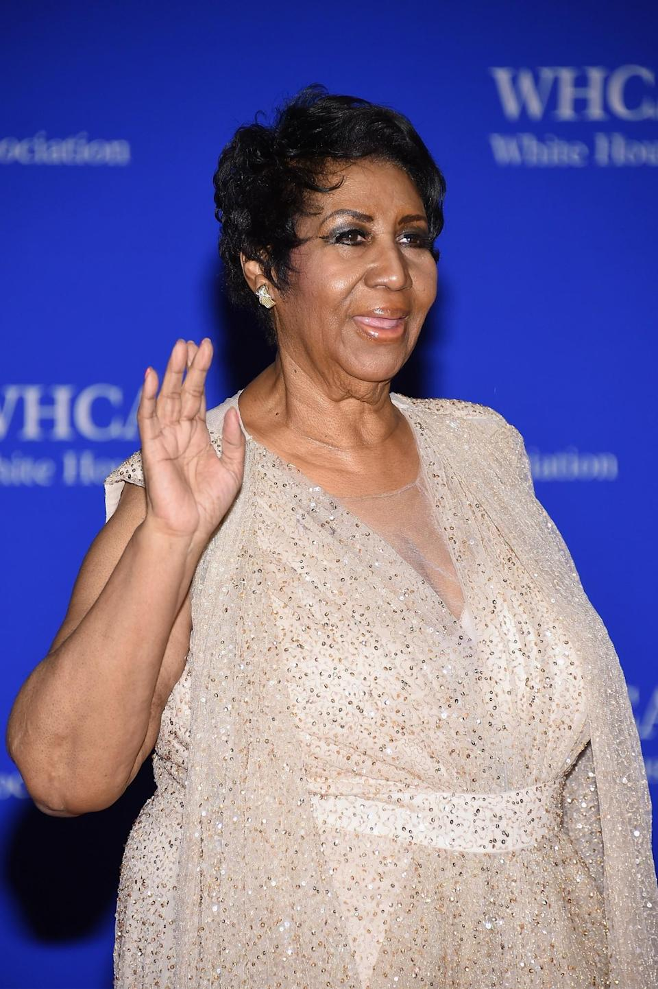 <p>The Queen of Soul, Aretha Franklin was the first woman to be inducted into the Rock and Roll Hall of Fame in 1987. Hailing from Tennessee, the singer became known for powerful hits including <i>Respect</i> and <i>I Say a Little Prayer</i>. She recorded her first tracks at the age of 14 and just kept getting bigger and better. In 2008, Aretha received her 18th Grammy, making her one of the most honoured artists in the history of the awards. <i>[Photo: Getty]</i> </p>