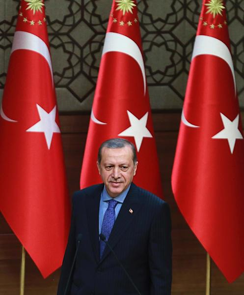 Turkish President Recep Tayyip Erdogan has previously said Turkey and Washington had been discussing a joint operation to take territory back from IS (AFP Photo/Adem Altan)