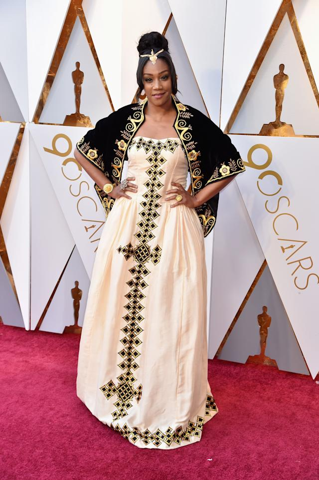 Tiffany Haddish attends the 90th Annual Academy Awards.