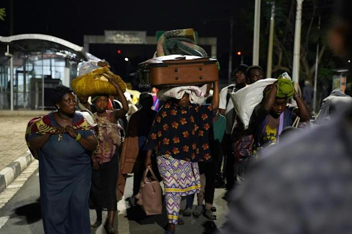 Thousands of Congolese refugees have poured into Gisenyi on the shores of Lake Kivu
