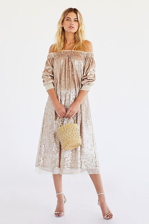 """$278, Free People. <a href=""""https://www.freepeople.com/shop/emilia-sequin-dress/?"""">Get it now!</a>"""