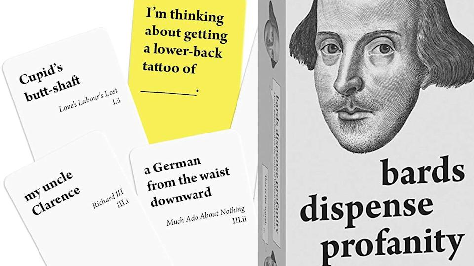 Best gifts for book lovers: Bards Dispense Profanity card game