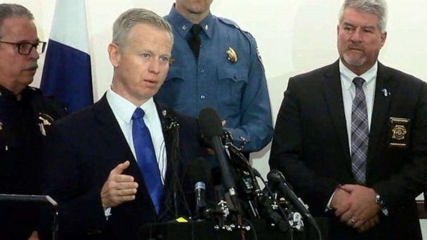 PHOTO: District Attorney George Brachler speaks at a press conference, May 8, 2019, regarding a shooting at the STEM School Highlands Ranch the previous day in Highlands Ranch, Colo. (KMGH)