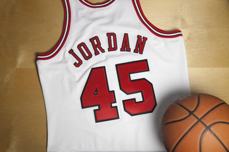 new concept 89fb4 225a0 Michael Jordan's number 45 jersey to go on sale
