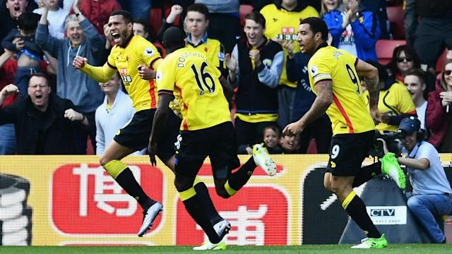 Swansea City slipped further into relegation trouble as Etienne Capoue condemned them to a sixth straight away defeat against Watford.