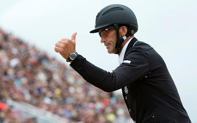 Andrew Nicholson has won the Land Rover Burghley Horse Trials three years in a row