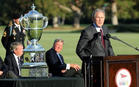 <span>Former US president George W Bush was in attendance at the LA Country Club</span> <span>Credit: R&A </span>