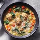 <p>Forget the marble-size meatballs you find in many versions of this soup. In this easy recipe, they're full-size, full-flavored and plenty filling.</p>