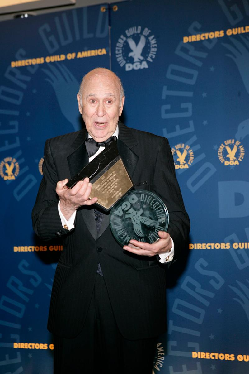 Reiner holds his honorary lifetime membership award at the 59th Annual Directors Guild of America Awards on Feb. 3, 2007, in Los Angeles.