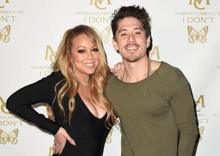 Mariah Carey (L) and Bryan Tanaka attend a private party at Catch