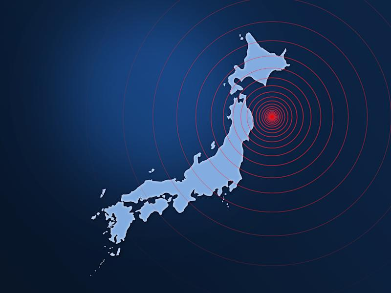 Japan earthquake disaster in 2011 with sonar