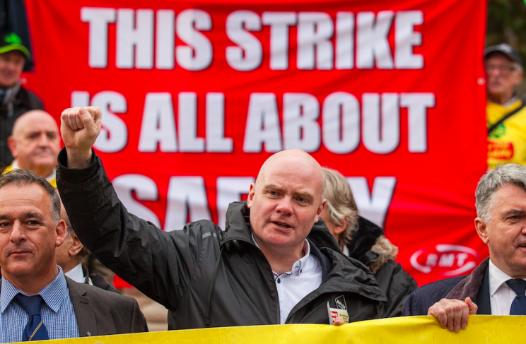 Heated: RMT boss Mick Cash was thrown out of a strike meeting this week (Rex)