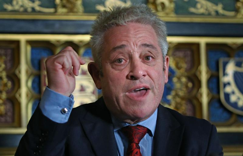 Commons Speaker John Bercow speaking at an Association of Jewish Refugees event in the Houses of Parliament in Westminster, London, on the 80th anniversary of the Kindertransport scheme.