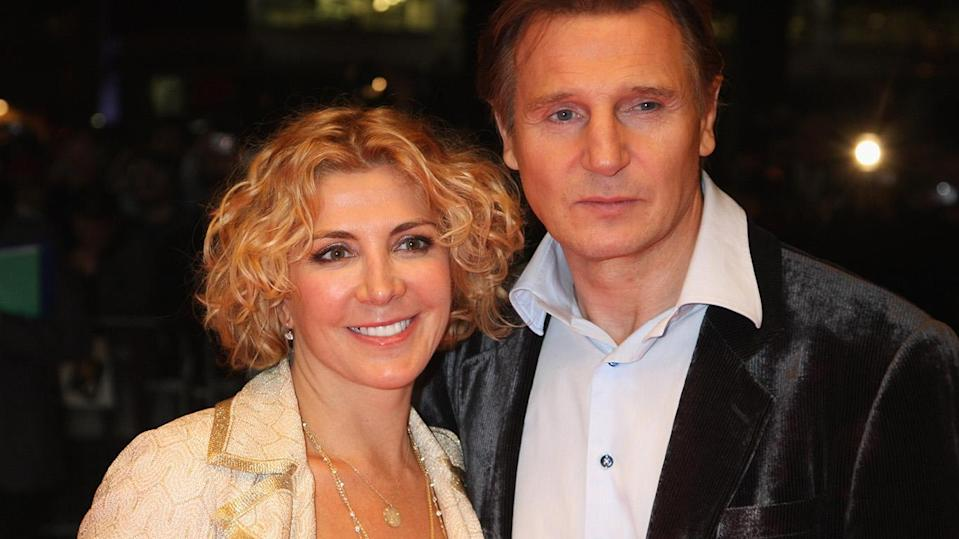 Liam Neeson and his wife, Natasha Richardson, in 2008. A year later, she died after a skiing accident in Canada. (Photo: Getty Images)