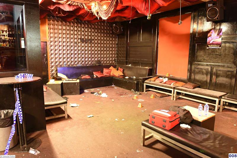 The interior of Inflation Nightclub after heavily armed police shot Mr Ewins and Ms Sukys. Source: AAP