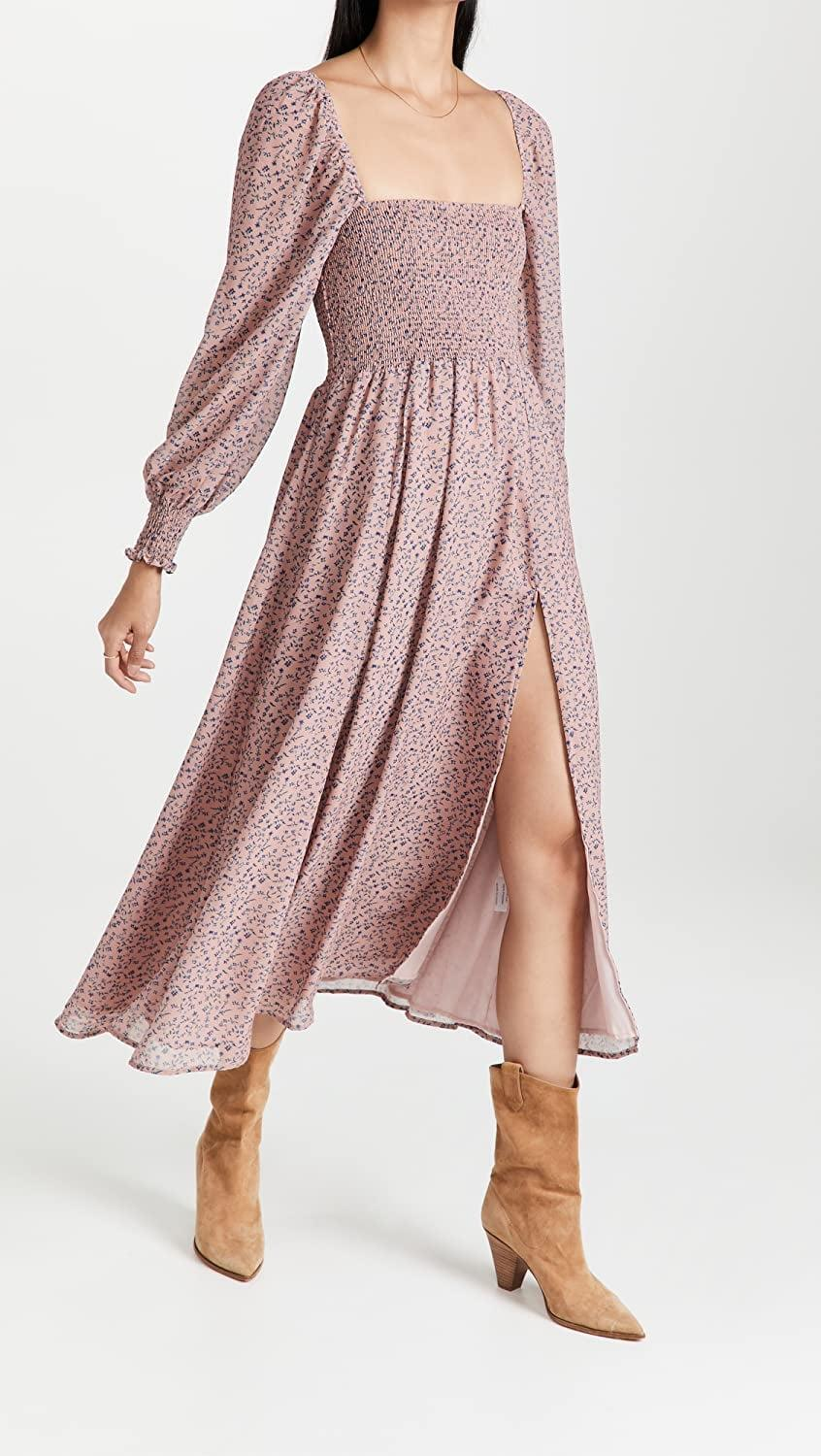 <p>If you need proof that you can wear florals come fall, look no further than this <span>OPT Classic Smocked Maxi Dress</span> ($149). You'll find any excuse to put it on; it's that pretty.</p>