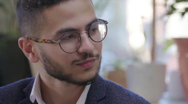 Screengrab of Ahmed Badr, 19, a former Iraq refugee currently living in Houston. (Video still: Purpose/UNICEF)