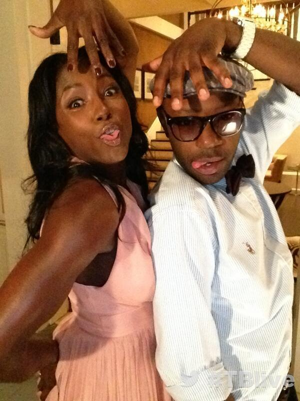 On set at #TBlive #TrueBlood ?with Rutina Wesley Nelsan Ellis