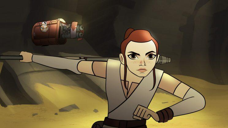 Star Wars Forces of Destiny Rey BB-8 Bandits