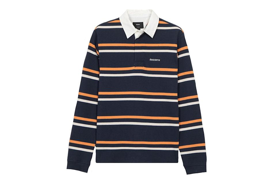 "$85, Huckberry. <a href=""https://huckberry.com/store/finisterre/category/p/61584-rugby-polo"" rel=""nofollow noopener"" target=""_blank"" data-ylk=""slk:Get it now!"" class=""link rapid-noclick-resp"">Get it now!</a>"