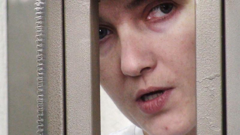 Nadiya Savchenko denies involvement in the killing of two Russian journalists (AFP Photo/)