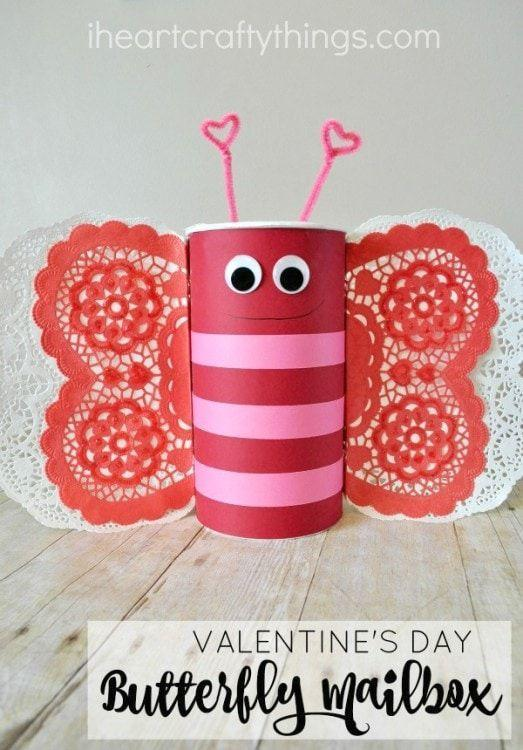 "<p>Create this sweet butterfly with items you have around your home. Don't forget the adorable heart antennae!</p><p><strong>Get the tutorial at <a href=""https://iheartcraftythings.com/butterfly-valentines-day-mailbox.html"" rel=""nofollow noopener"" target=""_blank"" data-ylk=""slk:I Heart Crafty Things"" class=""link rapid-noclick-resp"">I Heart Crafty Things</a>. </strong></p><p><a class=""link rapid-noclick-resp"" href=""https://www.amazon.com/TOODOO-Piecse-Doilies-Valentines-Decoration/dp/B077PPR5V5/ref=sr_1_1_sspa?tag=syn-yahoo-20&ascsubtag=%5Bartid%7C10050.g.25844424%5Bsrc%7Cyahoo-us"" rel=""nofollow noopener"" target=""_blank"" data-ylk=""slk:SHOP HEART DOILIES"">SHOP HEART DOILIES</a><strong><br></strong></p>"