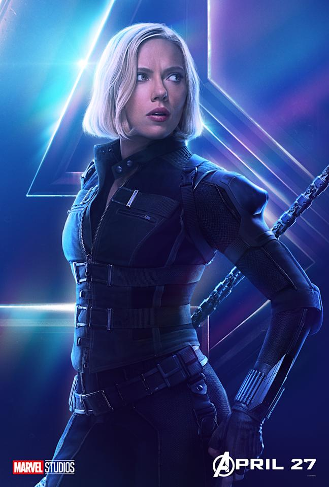 <p>Scarlett Johansson, in her new blond coif, is back at Cap's side and ready to rejoin her former teammates. (Photo: Marvel Studios) </p>