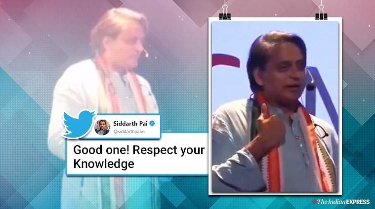 Shashi Tharoor replies to a student, Shashi Tharoor says reading is the reason behind his strong vocabulary,Shashi Tharoor on his vocabulary, Shashi Tharoor talks about reading, Thiruvananthapuram, Kerala, Trending, Indian Express news