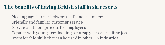 The benefits of having British staff in ski resorts