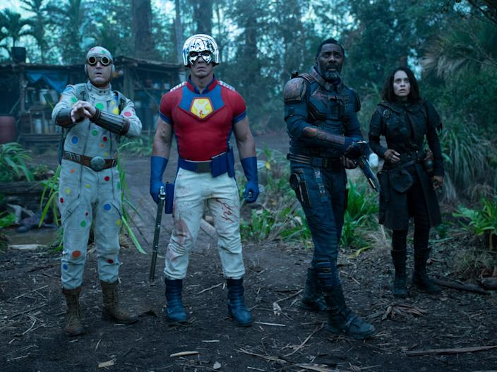 The director, who also has sole credit for the film's script, has scoured the wildest and weirdest corners of comic book history to fill his own beefed-up platoon (Warner Bros)