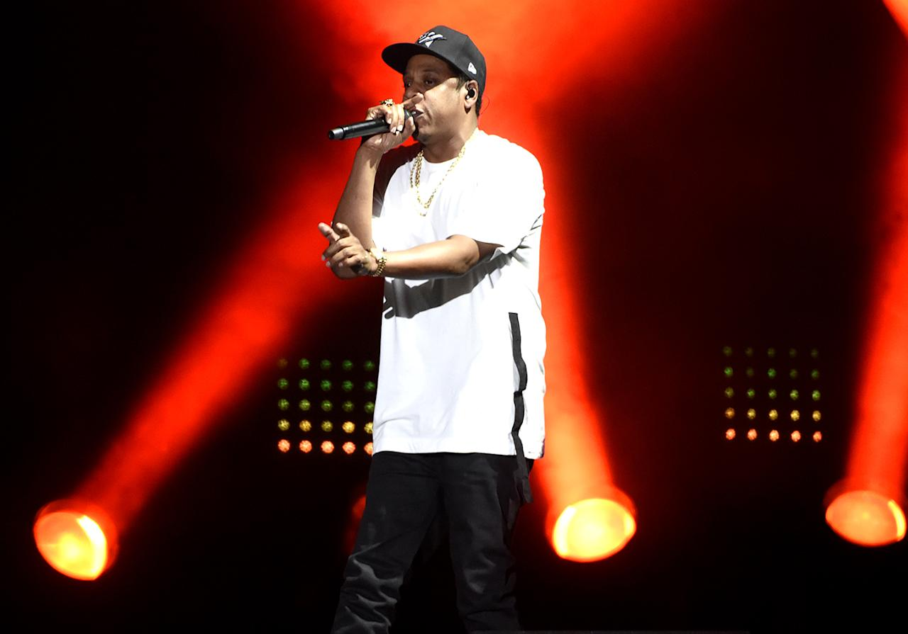 <p>The rap titan went 0-8. Only three other artists have ever had eight or more Grammy noms in one night and lost them all. Paul McCartney went 0-9 in 1965. Kanye West and Rihanna each went 0-8 last year. (Jay had the misfortune of vying with Kendrick Lamar in seven categories.) (Photo: Tim Mosenfelder/Getty Images) </p>