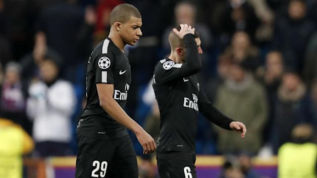 Kylian Mbappe Marco Verratti PSG Real Madrid Champions League