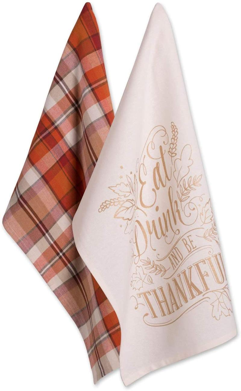 Thanksgiving Holiday Dish Towels.