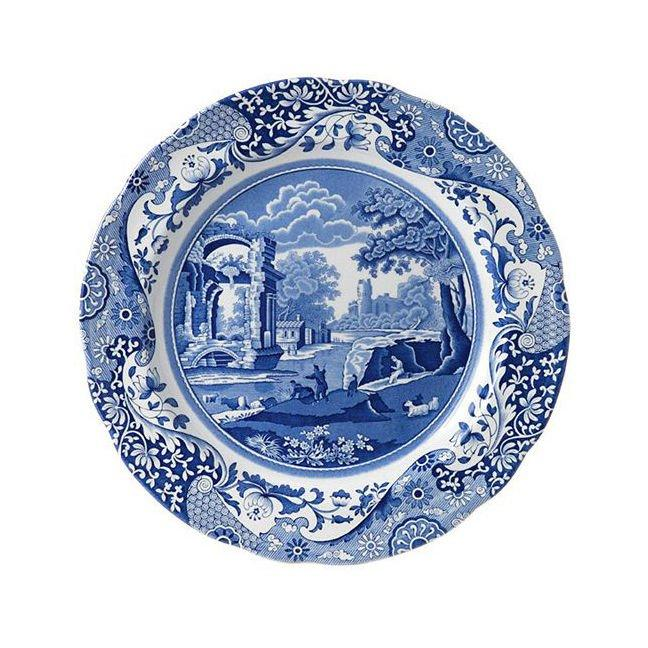 "<p>This little blue number has been one of the world's most popular china patterns for over 200 years. Yes, that's right. It's been a classic for literal centuries.</p> <p>Who goes for this iconic blue pattern? Someone who isn't afraid to commit to a bold look. All-over blue isn't for the faint at heart, but this old-world design somehow fits in seamlessly with your family heirloom china cabinet.</p> <p>For some, it might say that you're well-traveled and have an appreciation for fine culture—but without feeling ostentatious. For others, it's been in the family for decades. Doing Mama proud! </p> <p><b>BUY IT: $57 for set of 4 dinner plates; <a href=""https://www.amazon.com/Spode-Blue-Italian-Dinner-Plate/dp/B0036MEC26/ref=pd_sim_79_7?_encoding=UTF8&pd_rd_i=B0036MEC26&pd_rd_r=ENQWZSAV4HVW5PVCD1XM&pd_rd_w=lLOIq&pd_rd_wg=6p4MD&psc=1&refRID=ENQWZSAV4HVW5PVCD1XM"" target=""_blank"">amazon.com</a></b></p>"