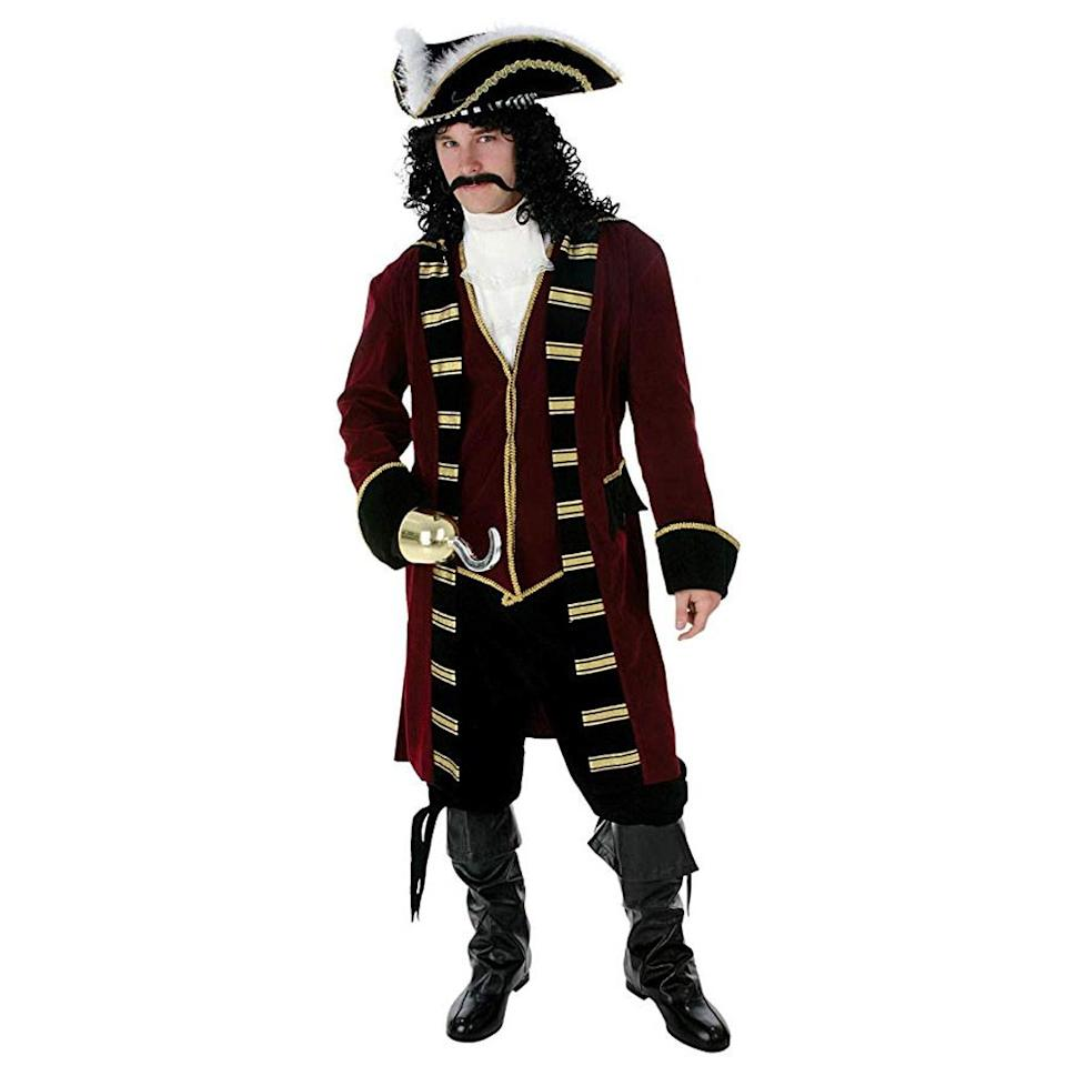 """<p><strong>FunCostumes</strong></p><p>amazon.com</p><p><strong>$84.99</strong></p><p><a rel=""""nofollow"""" href=""""http://www.amazon.com/dp/B0043WIJE0/"""">Shop Now</a></p><p>OK, OK, we know this isn't <em>the</em> Captain Hook from <em>Peter Pan</em>, but it's one of the closest pirate costumes you'll find. </p><p><strong>More:</strong> <a rel=""""nofollow"""" href=""""https://www.bestproducts.com/lifestyle/g2985/kid-and-adult-pirate-costumes/"""">The Best Pirate Costumes for All Different Ages</a></p>"""