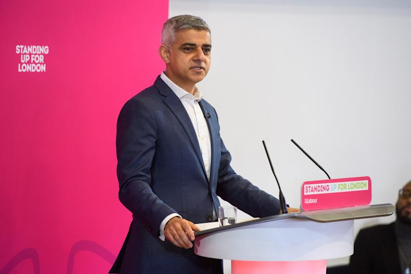 London mayor Sadiq Khan at the launch of his re-election campaign, at the Rose Lipman Building in north London. Picture date: Tuesday March 3, 2020. Photo credit should read: Matt Crossick/Empics