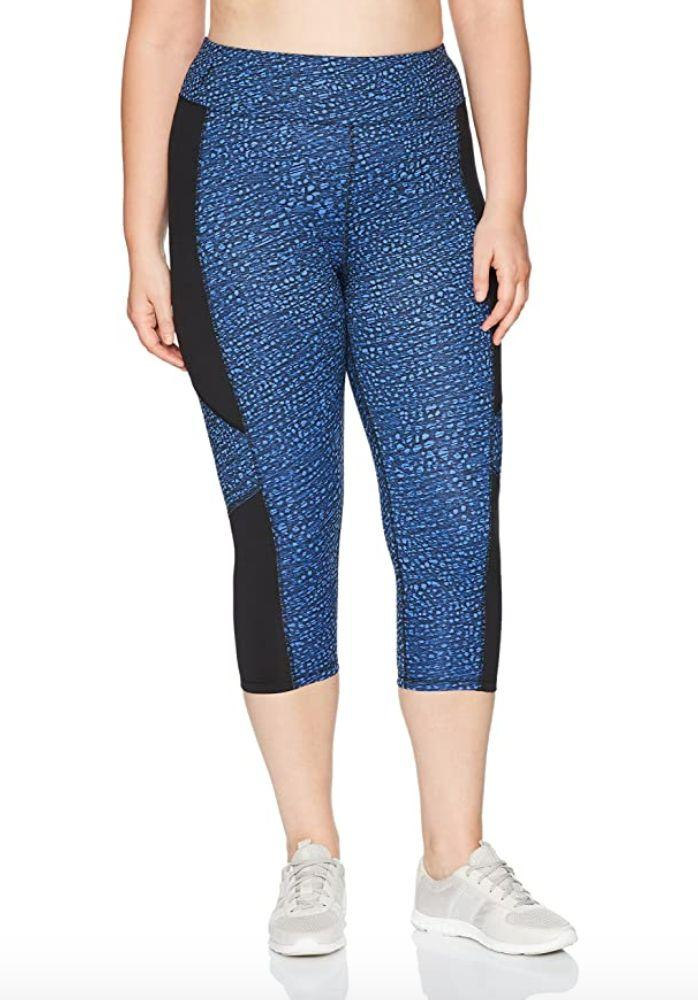 """These <a href=""""https://amzn.to/33Uiiev"""" target=""""_blank"""" rel=""""noopener noreferrer"""">stretchy capris</a> are made mostly of polyester with a bit of spandex in them. You can just pull them on as they don't have a drawstring and feature a 20-inch inseam. Choose among five different colors, including plum and slate.<br /><br /><strong>Sizes:</strong> These capris come in sizes 1X to 5X. <br /><strong>Rating:</strong>They have a 4.5-star rating over more than 800 reviews.<br /><strong>$$$: </strong><a href=""""https://amzn.to/33T5XaI"""" target=""""_blank"""" rel=""""noopener noreferrer"""">Find them starting at $15 on Amazon</a>."""
