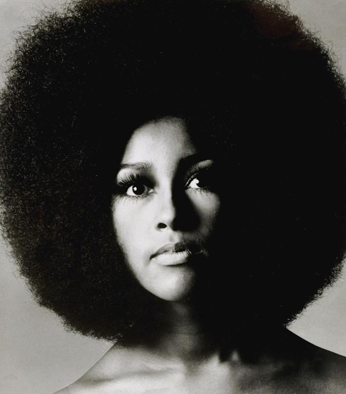 """This 1969 portrait made available by Sotheby's Saturday Nov. 10, 2012 shows American-born singer Marsha Hunt. Handwritten letters from Rolling Stones frontman Mick Jagger to his former lover Marsha Hunt will be auctioned in London next month. Hunt is an American-born singer who was the inspiration for the Stones' 1971 hit """"Brown Sugar"""" and bore Jagger's first child. The auction house said Saturday Nov. 10, 2012 that the collection, which includes song lyrics and a Rolling Stones playlist, is expected to fetch between 70,000 and 100,000 pounds ($111,300 and $159,000) and will go under the hammer on December 12. (AP Photo/Sotheby's/Courtsey of Justin de Villeneuve)"""